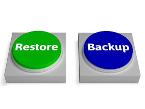 Backup And Restore Buttons Showing Data Archiving
