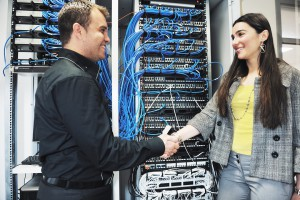 It network server room solving problems and give help and support